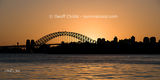 Sydney Harbour Bridge Sunset photo panorama