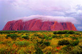 Picture relating to Uluru / Ayers Rock - titled 'Mighty Uluru Under Storm Cloud'