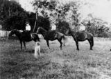 Picture relating to Maroon - titled 'Horseriding at Maroon, 1898'