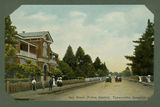 Picture relating to Toowoomba - titled 'Two cars passing on Neil Street, Toowoomba in front of the police station'