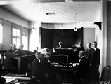 Picture relating to Acton - titled 'Land Court in session in the Court House, Acton House, Acton.'