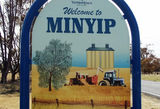 Picture relating to Minyip - titled 'Minyip welcome sign'