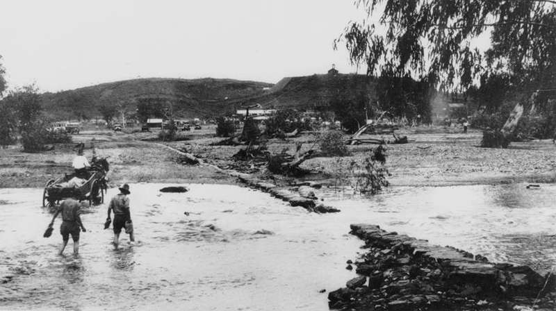 Picture of / about 'Leichhardt River' Queensland - Fording the Leichhardt River, Mount Isa, ca. 1931