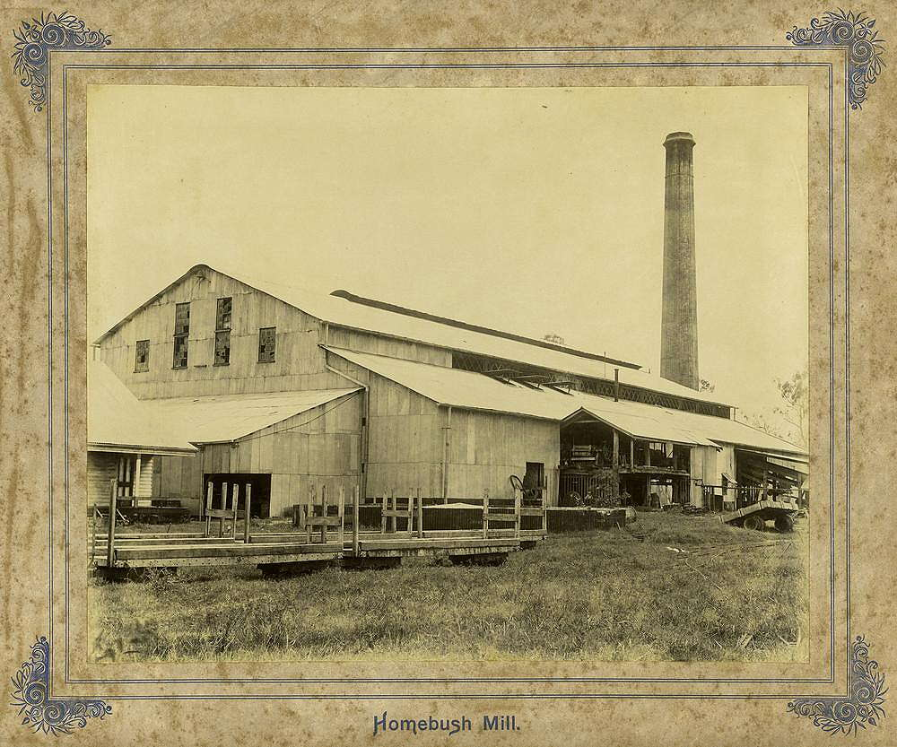 Picture of / about 'Mackay' Queensland - Homebush Sugar Mill, Mackay, ca. 1895