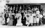 Picture relating to Minden - titled 'Mann family wedding party, Minden area, ca. 1923'