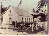 Picture relating to Thursday Island - titled 'Darnley Island church and school - Thursday Island group'