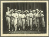 Picture of / about 'Gympie' Queensland - Members of the Black and White Costume Company, Gympie, 1917