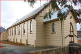 Picture relating to Calwell - titled 'Heritage registered church at Calwell, ACT'