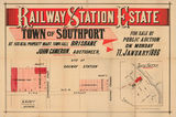 Picture relating to Southport - titled 'Estate map of Railway Station Estate, Southport, Queensland, 1886'
