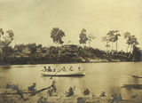 Picture of / about 'Herbert River' Queensland - Waller brothers in the boat near Macnade House
