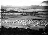 Picture relating to Canberra - titled 'View from Mount Ainslie over Reid and Hotel Canberra to Yarralumla'