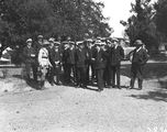 Picture relating to Canberra - titled 'Visit to Canberra of Royal Navy Officers from HMS Renown - Officers of HMS Renown with Australian Army Officer in uniform'