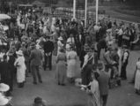 Picture relating to Charleville - titled 'Section of the crowd attending the Charleville races, ca. 1933'