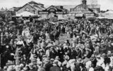 Picture relating to Toowoomba - titled 'Scene at the Toowoomba showgrounds, 1928'