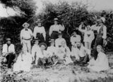 Picture relating to Thursday Island - titled 'Picnic on Thursday Island, Queensland, ca. 1900'