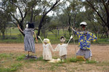 Picture relating to Chichester Range - titled 'Bush Children's Sculptures, near Quairading, WA'