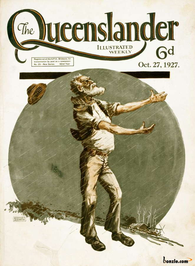 Picture of / about 'Queensland' Queensland - Illustrated front cover from The Queenslander, 27 October 1927