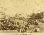 Picture of / about 'Warwick' Queensland - Street procession on Jubilee Day, Warwick, June 1897