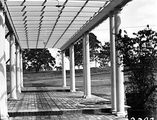 Picture relating to Deakin - titled 'Pergola at the rear of the Prime Ministers Lodge, Adelaide Avenue, Deakin.'