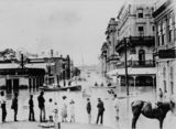 Picture relating to Brisbane - titled 'Flood waters seen from the corner of Adelaide and Creek Streets, Brisbane, 1893'