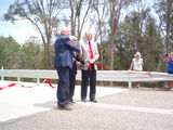 Picture relating to Wollombi Brook - titled ' Broke Bridge Officail opening   Ribbon cutting.'