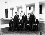 Picture relating to Parliament House - titled 'A group of Old Parliament House officials, Frank Green on the left.'