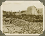 Picture relating to Bundaberg - titled 'Rubble left after the fire at Millaquin Distillery, Bundaberg, 1936'