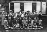 Picture relating to Redcliffe - titled 'Students and teachers from Eidsvold during their school trip to Redcliffe, 1921'