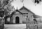 Picture relating to Warwick - titled 'Front view of the Warwick East Central State School, ca. 1928'