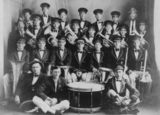 Picture relating to Wondai - titled 'Members of the Wondai Town Band, Wondai, ca. 1930'