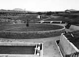 Picture relating to Weston Creek - titled 'Weston Creek Sewerage Treatment works, trickling filters.'