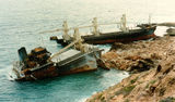 Picture relating to Cape Cuvier - titled 'MV Korean Star Wreck '