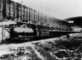 Picture of / about 'Marmor' Queensland - Loaded train stationary beside the quarry at Marmor, about 1906