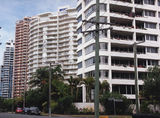 Picture relating to Gold Coast - titled 'Row of high- rise apartments in Surfers Paradise, 2004'