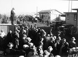 Picture of / about 'Canberra' the Australian Capital Territory - Royal Visit, May 1927 - Part of the crowd at Canberra Railway Station awaiting the arrival of the Duke and Duchess of York.