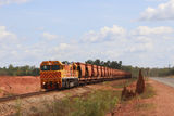 Picture relating to Weipa - titled 'Weipa - Andoom bauxite train'