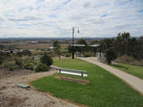 Picture relating to Gulgong - titled 'Picnic tables on Flirtation Hill, Gulgong'