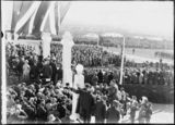 Picture relating to Parliament House - titled 'Royal Visit, May 1927 - Part of the official guests at Old Parliament House for opening ceremony.'