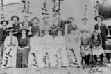 Picture relating to Boulia - titled 'Group portrait of residents of Boulia, Queensland, ca. 1913-1916'