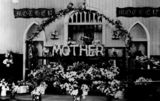 Picture relating to Maryborough - titled 'Decorations for Mother's Day at the Fort Street Baptist Church in Maryborough in 1937'