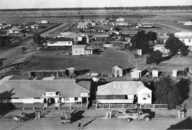 Picture of / about 'Dirranbandi' Queensland - View of Dirranbandi, ca. 1953