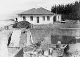 Picture relating to Mount Stromlo Observatory - titled 'Construction site at Mount Stromlo Observatory'
