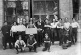 Picture relating to Brisbane - titled 'Austral Carriage Company staff, Brisbane, ca. 1915'