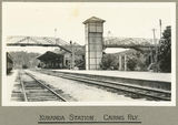 Picture relating to Kuranda - titled 'Kuranda Railway Station including the footbridge across the tracks, 1924'