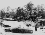 Picture relating to Stanthorpe - titled 'Quart Pot Creek surrounded by granite rocks, Stanthorpe, ca. 1891'