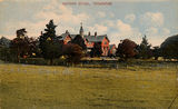 Picture of / about 'Toowoomba' Queensland - Hand coloured postcard of the Grammar School at Toowoomba