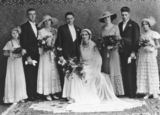 Picture relating to Kedron - titled 'Stylish wedding of Ethel and Victor Boot, Kedron, Brisbane, 1934'