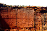Picture relating to Chichester Range - titled 'Spectacular wall of Kings Canyon'