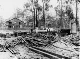Picture of / about 'Rosewood' Queensland - Group of people at the Prezlan Sawmill, Rosewood