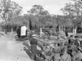 Picture relating to Duntroon - titled 'Anzac Day 1929. Ceremony at Grave of General Bridges, Royal Military College, Duntroon.'